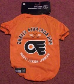 PHILADELPHIA FLYERS PET TEE SHIRT SIZE MEDIUM DOG SHIRT NHL