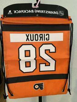 Philadelphia Flyers Sabers Back Pack/Sack Drawstring Bag/Tot