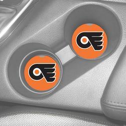 PHILADELPHIA FLYERS RUBBER CAR COASTERS SET  NHL HOCKEY