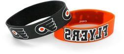 philadelphia flyers silicone bracelets 2 pack brand