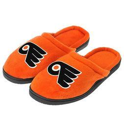 Philadelphia Flyers Slippers Black Rubber Sole Mens by Forev