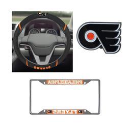 Philadelphia Flyers Steering Wheel Cover, License Plate Fram