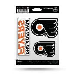 Philadelphia Flyers Stickers Die Cut Decals 3-Piece Triple S