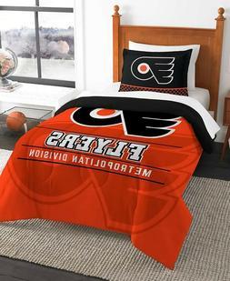 Philadelphia Flyers Twin NHL Hockey Comforter Pillow Sham Se