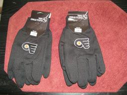 TWO  PAIR OF PHILADELPHIA FLYERS, UTILITY GLOVES FROM FOREVE